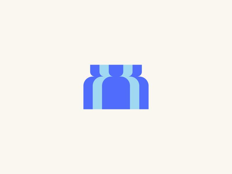 District Logo modern logomark overlay design illustration geometric brand branding identity group people society street town community logo icon symbol flat clean simple area city district