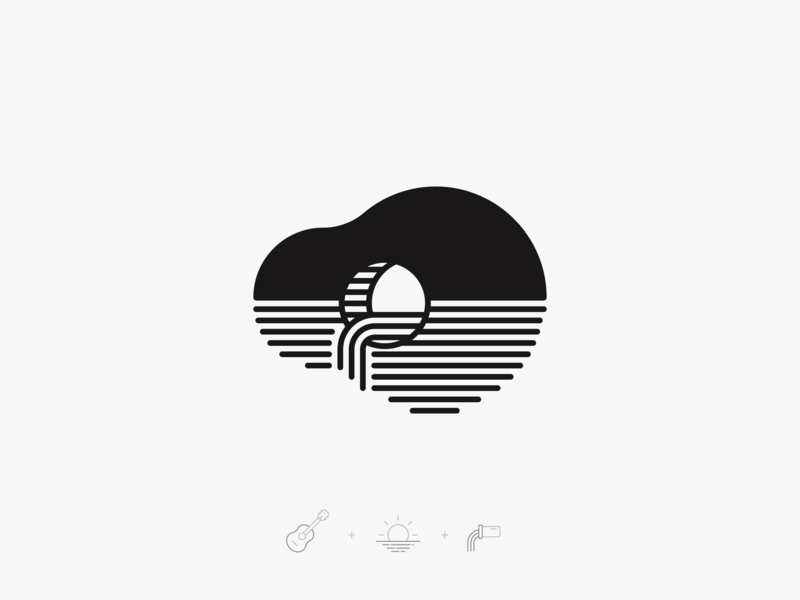 Logo Experiment modern contrast symbol mark flat brand illustration geometric design branding identity logo logomark icon rounded clean simple tube water line guitar sea sewer