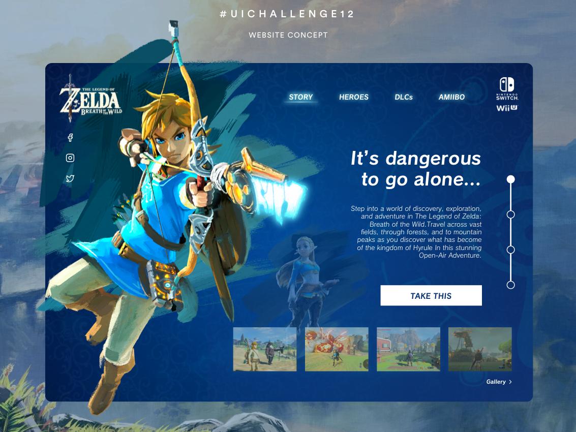 Zelda Website + Sketch File uipractice game zelda concept website userinterface uidesign sketch app