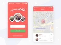 App Localizacão - UI Design