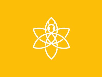 Bee & Lily logo logo design branding brand minimal yellow bee lily flower interrobang