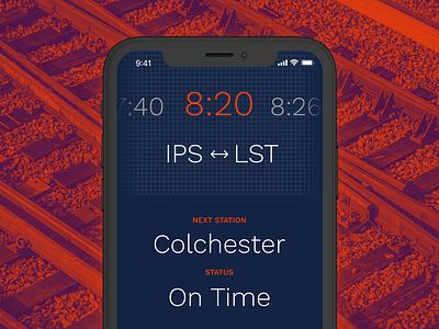 Train Times App (Concept) orange concept night dark train app design ux ui