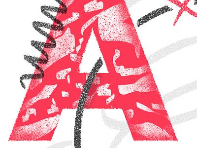 Illustration Detail typography illustration
