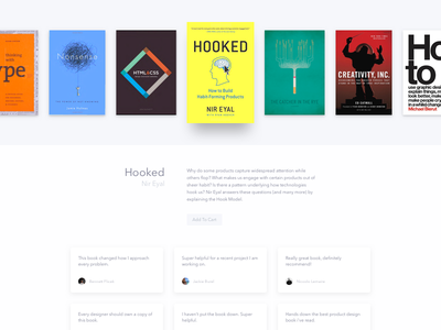 Book Purchase ui ux card clean book purchase ecommerce dailyui testimonials reviews