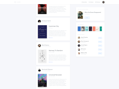 Book Activity Feed book activity feed social media cards clean dailyui ui white post