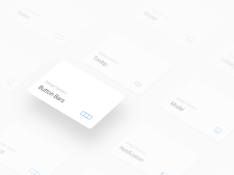 Component Cards modal tooltip bars button components cards system design