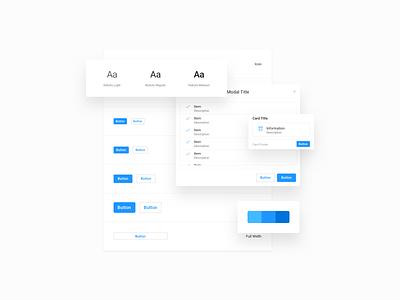 Design System modal menu dropdown button card outline hover blue components system design