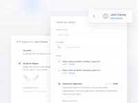 Create new patient + print