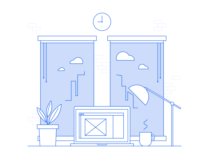 Views line art city view laptop view office vector uitrends uidesign interface  minimal illustrator illustration design dailyui dailydesign creative