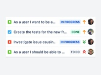 JIRA issue rows by Kai Forsyth
