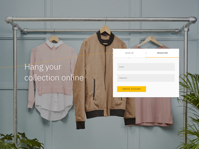 Hang your collection online material ui material sign in sign up register login