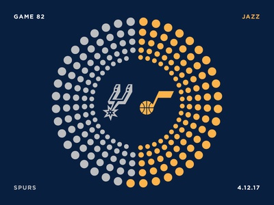 Jazz Scores: Game 82 - 4.12.17 visualization illustration design data stats sports jazz utah spurs basketball nba
