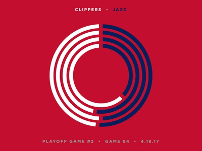 Jazz Scores: Game 84 - Playoff Game 2 - 4.18.17 jazz utah basketball nba data visualization design statistics stats sports illustration