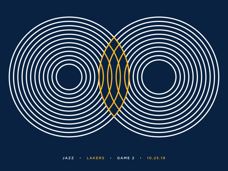 Jazz Scores: Game 2 - 10.25.19 design visualization stats utah sports sport yellow blue color shape graphic visual design utah jazz jazz nba data basketball