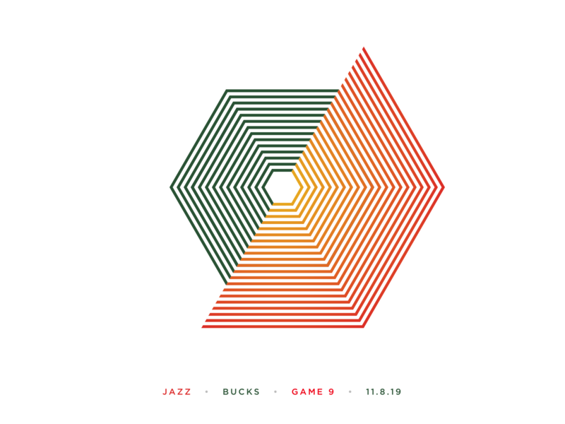 Jazz Scores: Game 9 - 11.8.19 statistic angles angle sports design sport graphic gradient statistics illustration sports design nba stats visualization utah basketball jazz data