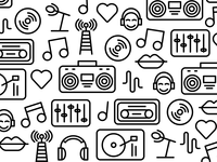 radio icon pattern
