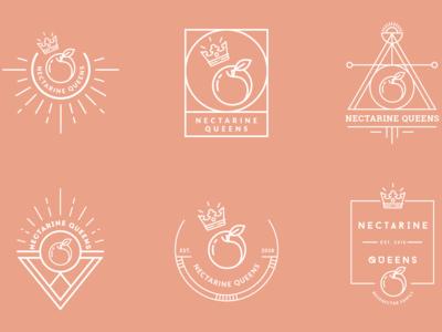 Nectarine Queens Brand Identity