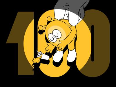 Take me away poster yellow design lutata illustration cbndata