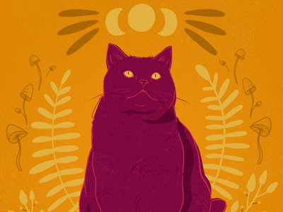 Mystical Cat - Illustration