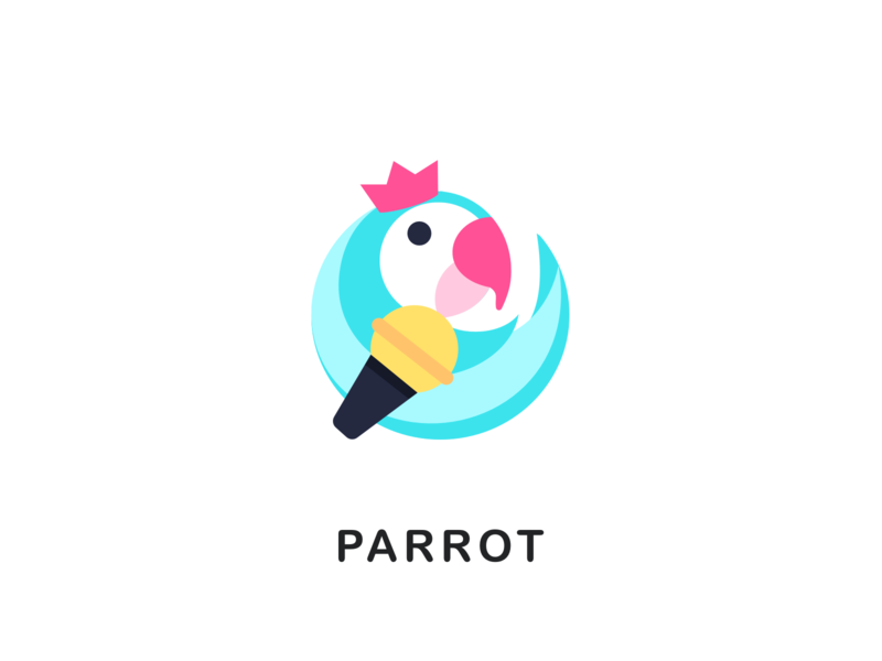 Parrot icon branding logo monk app