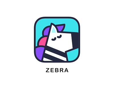Zebra icon app ui logo monk