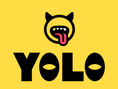 YOLO LOGO v3 YOU ONLY LIVE ONCE yolo icon ui logo monk