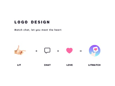Lit Match | LOGO DESIGN chat,monk,wechat monk,beautiful,girl,character icon app monk