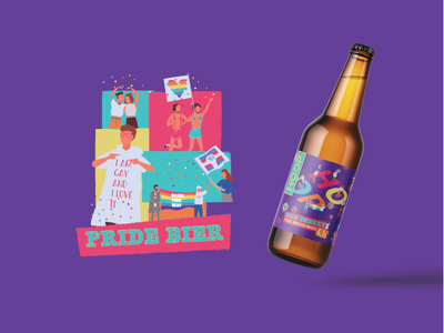 Pride Beer - Brewery Hoop creative design packagedesign packaging design packaging colorful pride month pride 2020 pridemonth bottle design bottle mockup beer branding beer label beer can beer bottle pride beer