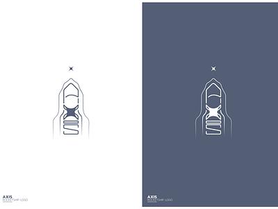 Spaceship logo AXIS illustrator creative illustration less is more line art logo line logo lineart minimalist logo red blue spaceship logo design logodesign logotype logos logo axis