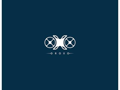 Drone branding DROXO future logo minimalistic minimalist logo less is more brand identity branding logos logodesign logotype logo design logo drones drone logo drone