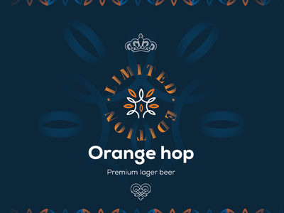 OrangeHop Beer Can 1. less is more illustrator creative illustration logo design logodesign logotype logo drinks packaging design package design packagedesign packaging beer branding beer label beer art beer can beer