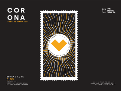 Corona postage stamp Spread Love 01/13 design less is more creative vector illustration illustration art illustrations illustration illustraion illustrator covid19 covid stamp design stamp postage stamp postage corona love