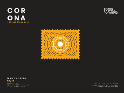 Corona postage stamp fear the feed 02/13 advertising poster art sticker design covid19 covid illustraion postage stamp postage post coronavirus corona linework lineart design illustrations illustration art less is more illustrator creative illustration