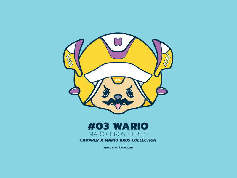 Chopper x Mario > Wario illustration character yellow wario nintendo onepiece chopper mario games game manga anime