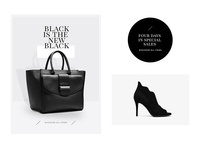 Black friday visual e-commerce black friday friday black shoes bags online store store ecommerce fashion