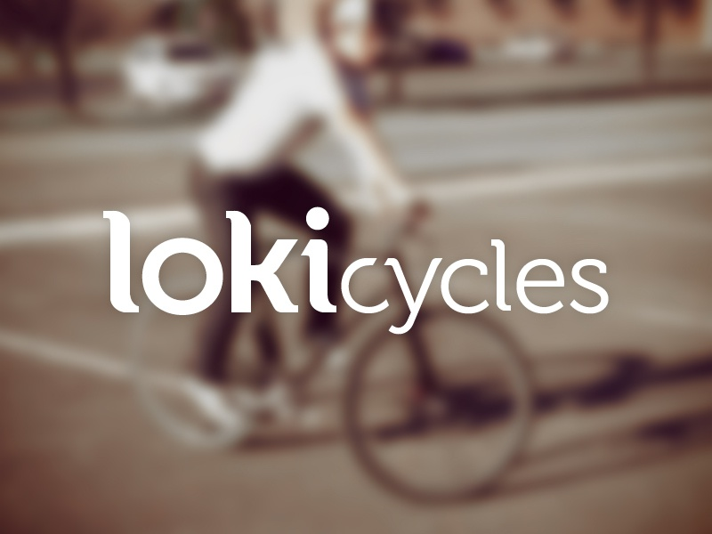 Lokicycles cycling fixie bicycle bike logo museo blur focus hipster logotype typography muted identity branding