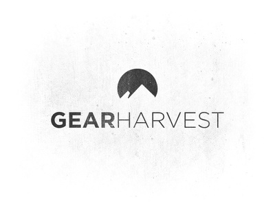GearHarvest mountains gear harvest gotham snow active sports logo type typography mark circle