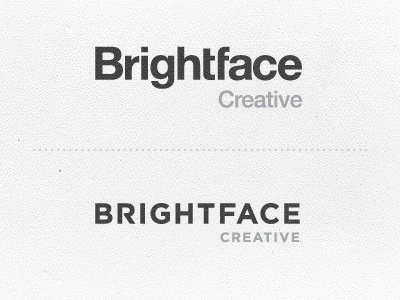 Brightface Logo  Helvetica or Gotham? by Kenji Bankhead on