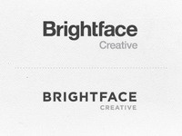 Brightface Logo. Helvetica or Gotham?