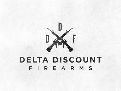 Delta Discount Firearms delta discount firearms guns logo gotham texture grunge star gun m16 machinegun