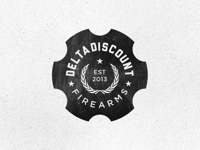 Delta Discount Firearms guns firearms grunge gotham logo seal sixshooter six shooter laurelwreath star liberator texture circle