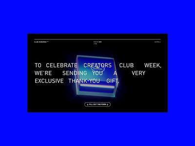Adidas Club100 c4d type 3d ui website concept web motion interaction design