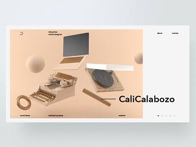 Portfolio Concept interaction design web ux ui portfolio website