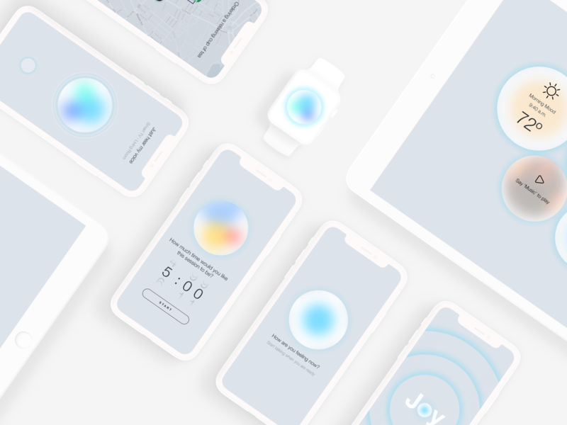 Joy — Ai Self-Care Assistant interaction devices app concept ux design uidesign ux uiux ui design ui