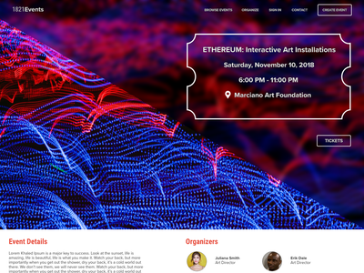 Event Landing Page adobe xd xddailychallenge design web ux ui