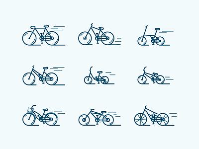 Bikes icon ride sport wheel icons outline bmx bicycle bike
