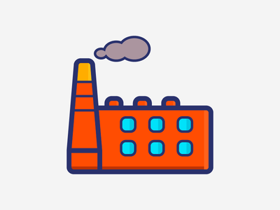 Factory illustration icon factory
