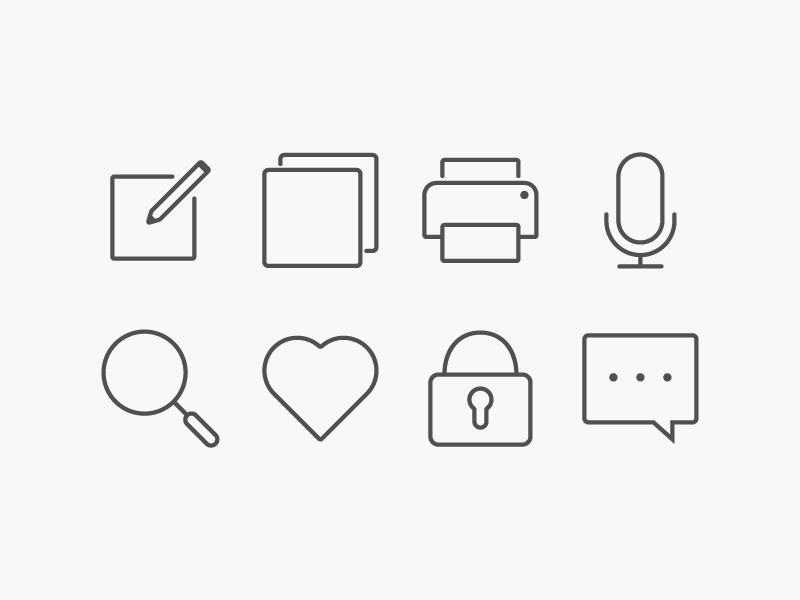 Simple Icons For Interface By Igor Verizub On Dribbble