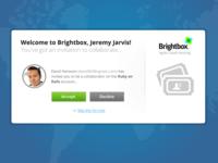 Collaboration Invite Screen