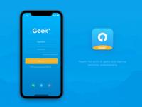 Geek+ App Login page